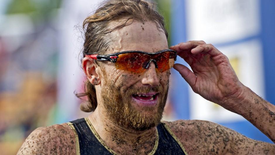 Cross Triathlon ITU Weltmeisterschaft 2014 Zittau Olbersdorfer See Samstag 16 08 14 Männer; Faris al Sultan