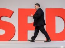 Parteivorsitzender Sigmar Gabriel beim SPD-Parteitag im Dezember in Berlin