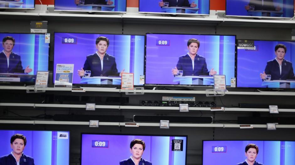 Beata Szydlo im Fernsehen