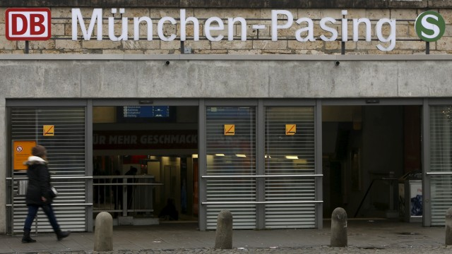 Entrance of train station Pasing is pictured in Munich