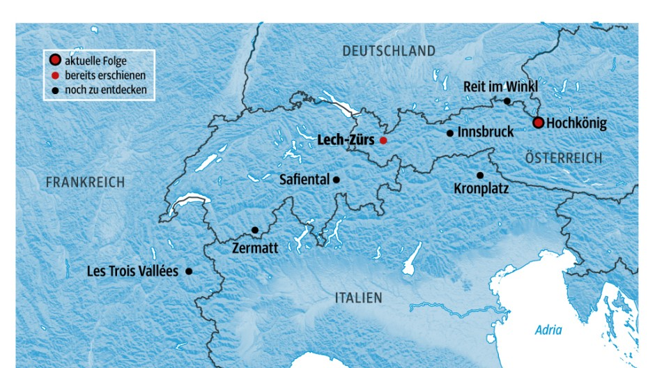 Alpen Skigebiete in den Alpen