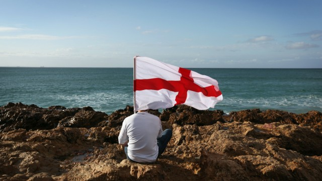 England Fans Prepare For Tomorrow's World Cup Crunch Match Against Slovenia