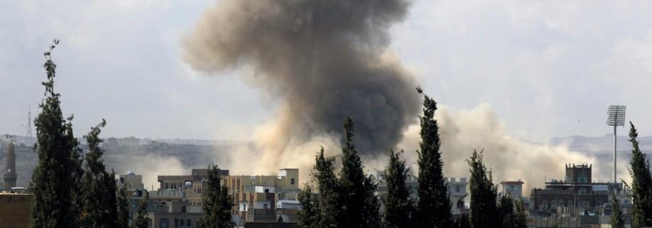 Rauchwolken über Sanaa