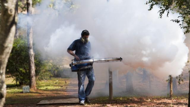 City council employee spreads pesticide