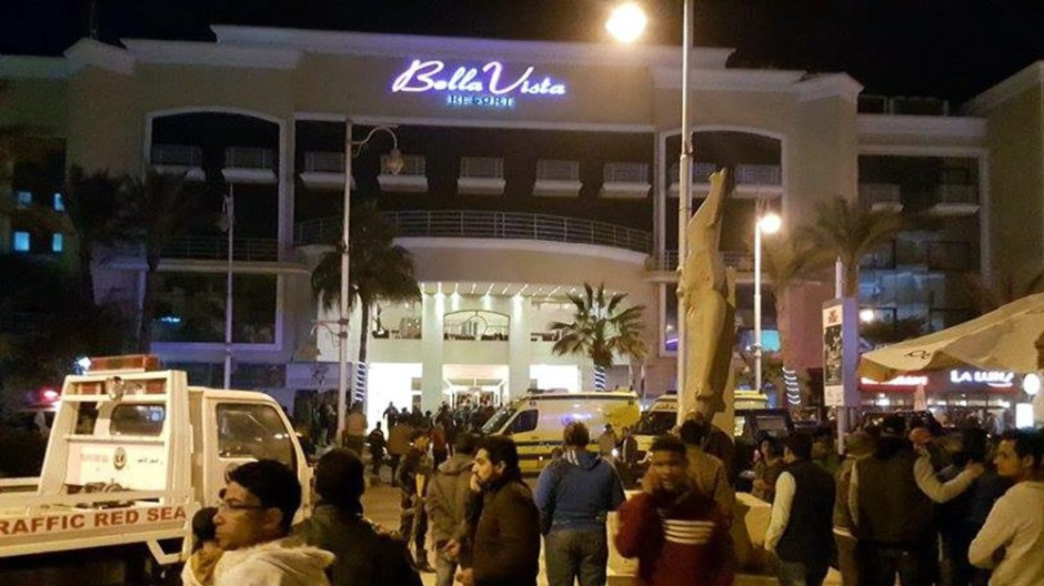 Gunmen opened fire on the Bella Vista Hotel