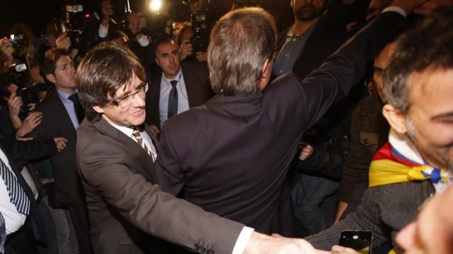 Carles Puigdemont, Artur Mas