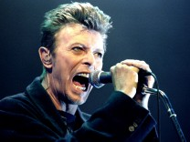 File photo of David Bowie performing during a concert in Vienna