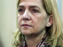 Spain's Princess Cristina sits in court accused of tax fraud in Palma de Mallorca