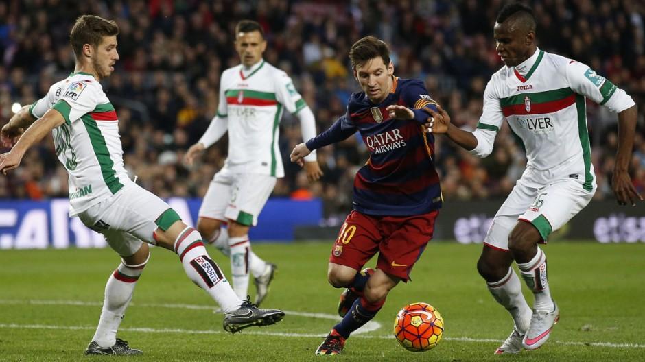 Lionel Messi, Thievy Bifouma