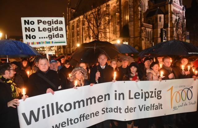 Legida-Demonstration in Leipzig