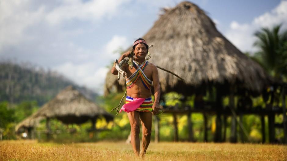 Serrania de Maje, Embera man