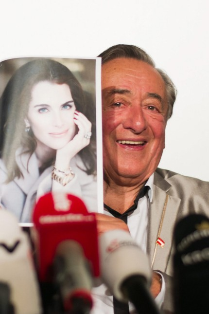 Richard Lugner presents his special guest Brooke Shields in Vienn
