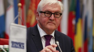 German Foreign Minister Steinmeier addresses the permanent council of the OSCE in Vienna