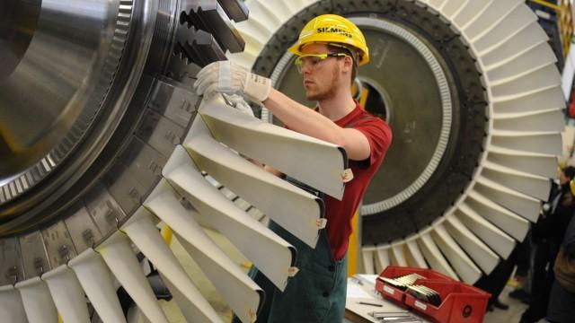 Produktion Gasturbinenwerk Siemens AG