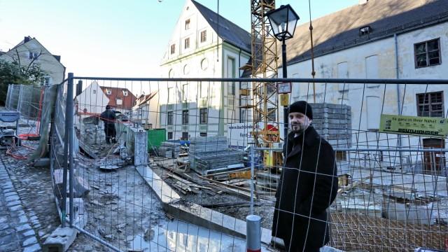 Freising Baustellenbesichtigung mit dem OB