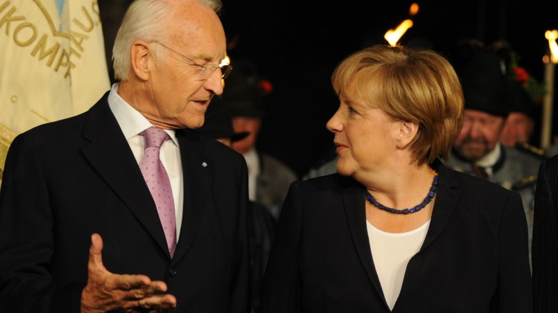 Manuel Barroso, Angela Merkel, Edmund Stoiber, 2011