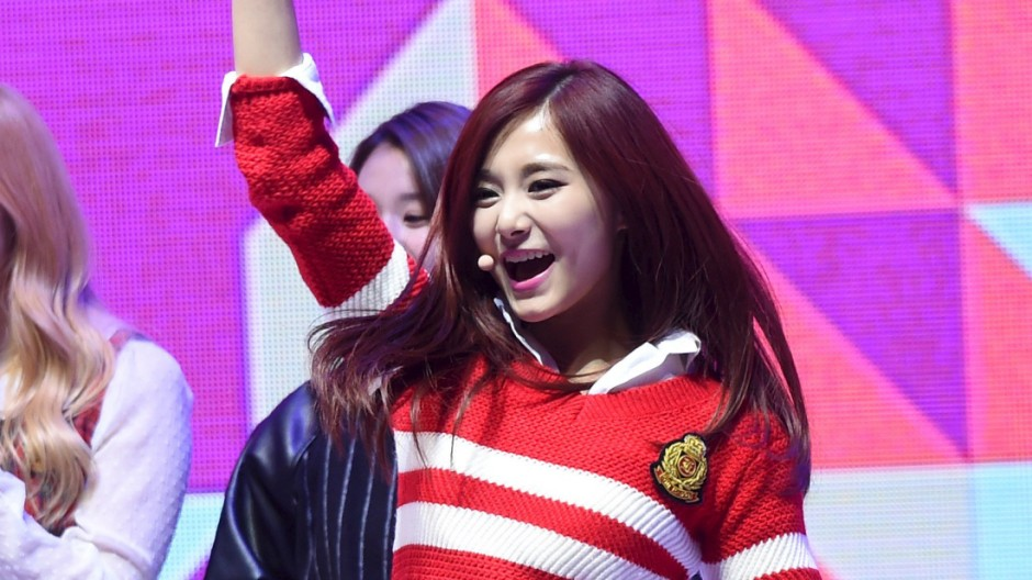 Chou Tzuyu, the only Taiwanese member of K-Pop girl group Twice, performs during the 2015 SBS Awards Festival in Seoul