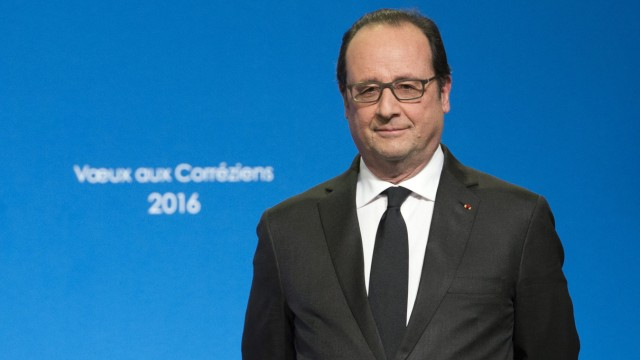 President Hollande's visit for New Year wishes