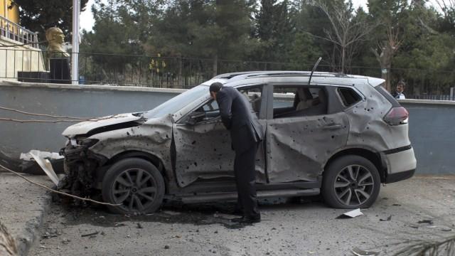 Konflikt der Türkei mit Syrien Grenze zu Syrien