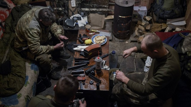 Positions of the ATO forces in Donetsk region Ukraine Positions of the ATO forces outside Krasnohor