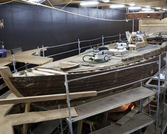 Bootsbauer Tim Lenz - Restaurierung eines Zwei-Mast-Gaffelschoners, Baujahr 1931