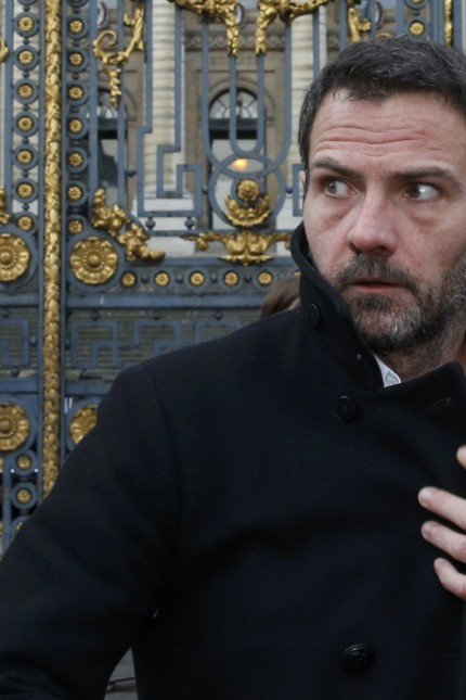 Former trader Jerome Kerviel leaves the courthouse in Paris
