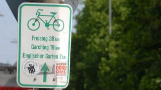 Einheitliches Schildersystem für Münchner Radfahrer, 2007
