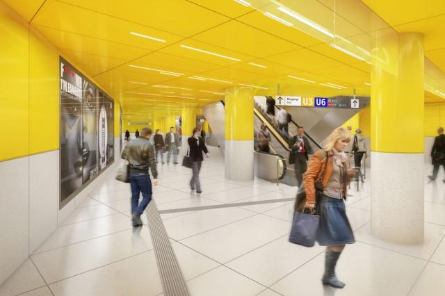 Simulation Bahnsteig U1 U2  Mitte- Sendlinger Tor - U-Bahn