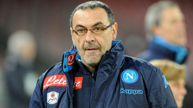Jan 19 2016 Naples Italy head coach of SSC Napoli Maurizio Sarri during the italian TIM Cup f