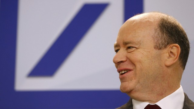 Deutsche Bank new Chief Executive John Cryan arrives for a news conference in Frankfurt
