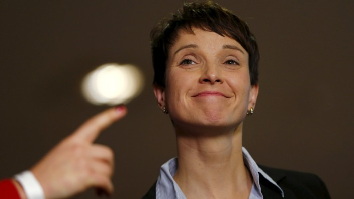 Frauke Petry, Chairwoman of the right-wing Alternative for Germany (AfD) party, attends the party congress in Hannover