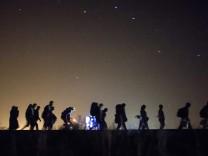 Flüchtlige auf der Balkanroute
