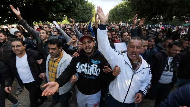 Protests against unemployment in Tunisia