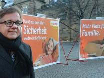 Vorstellung des ersten CDU-Großflächenplakates zur Landtagswahl