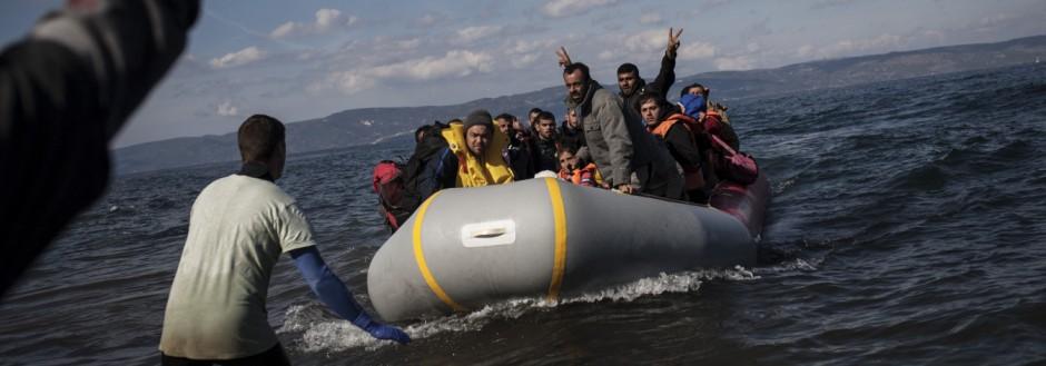 Flüchtlinge erreichen Lesvos