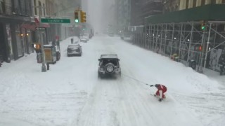 Snowboard New York City Casey Neistat