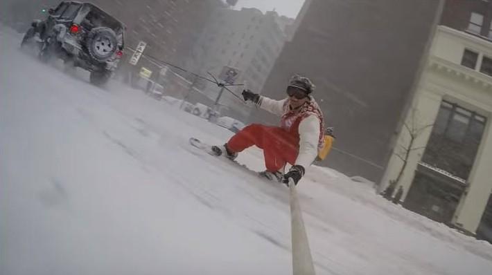 Snowboard New York City Casey Neistat