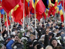 Protest against the new government in Chisinau