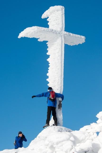Schnee auf dem Großen Arber