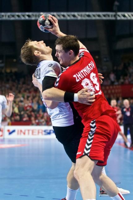 Handball Wroclaw Breslau 24 01 2016 Europameisterschaft der Herren Zwischenrunde Deutschland GER