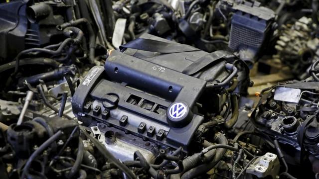 TDI-Dieselmotor von VW auf einem Gebrauchtteilemarkt