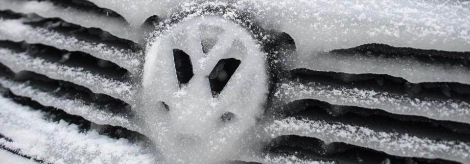 Vereistes Volkswagen-Logo