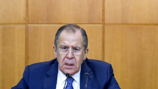 Russian Foreign Minister Lavrov gives his annual news conference in Moscow