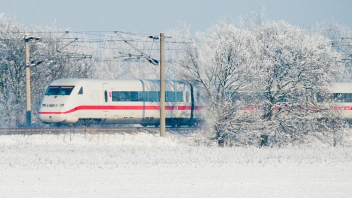 Deutschen Bahn im Winter ICE
