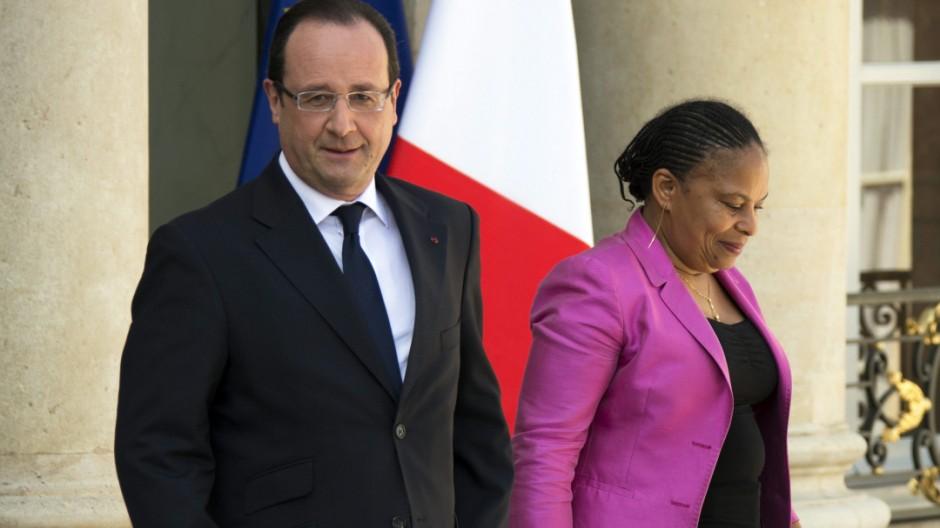 Christiane Taubira und Francois Hollande