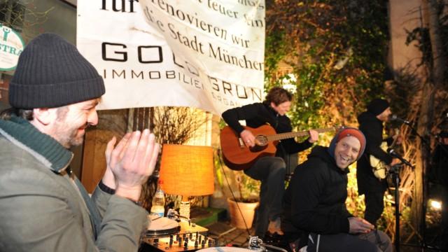 Goldgrund-Aktion für bezahlbares Wohnen in München, 2014