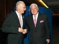 Fedor Radmann und Franz Beckenbauer