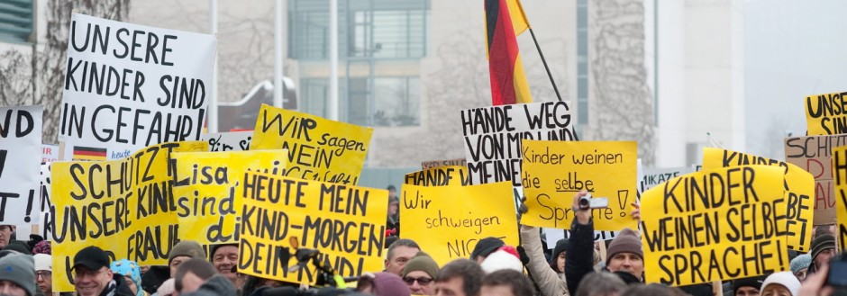 'Bärgida'-Demonstration in Berlin