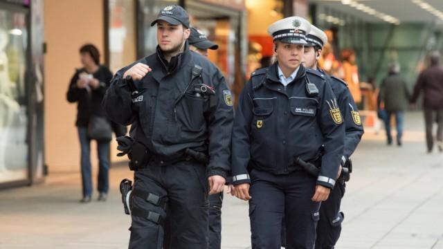 Polizeistreife in Stuttgart