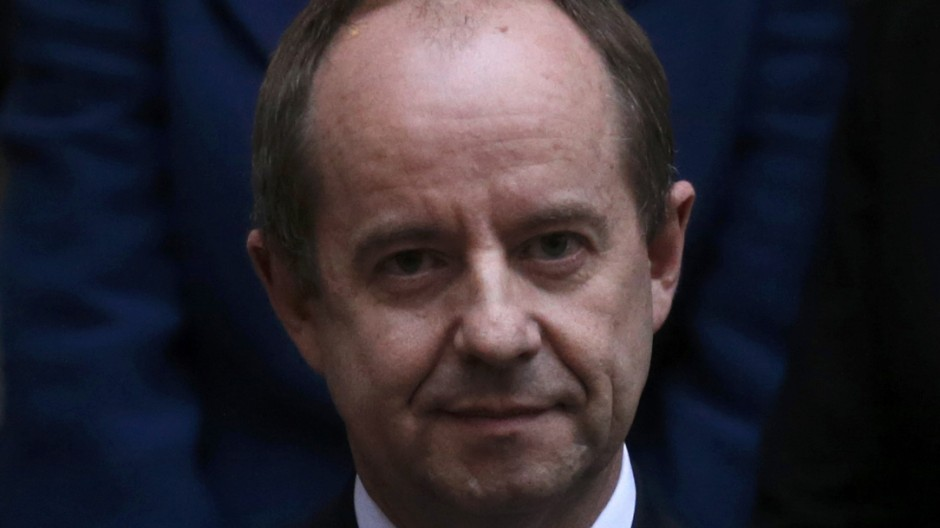 Newly-appointed French Justice Minister Jean-Jacques Urvoas attends the handover ceremony at the Justice Ministry in Paris